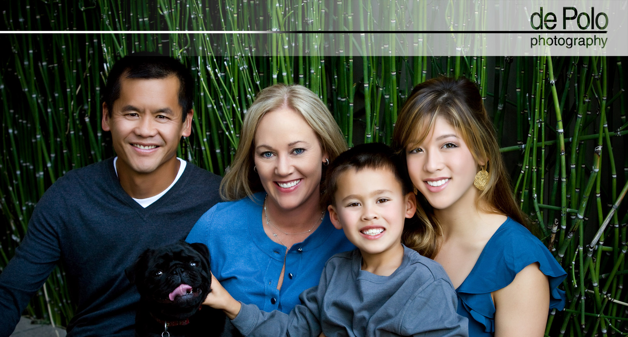 What a great way to spend an evening with your family and create an event that will last a lifetime! Dr. Lim hired me to do his business head shots for his new website and after showing me several sites that he liked we realized that a family portrait was what he needed. We designed the early evening Family Portrait session in Portola Valley. When I arrived I was pulled help with the final clothing consultation, then they grabbed their pug dog and off we went. When we finally met to view the images they were thrilled, one portrait was for their Christmas card and several others now hang in various rooms of their home. Both children got the story board collections and Dr. Lim has a 9UP collection hanging in his office. His wife was thrilled not to have to do all that work herself, with all the various custom frames I carry, it was easy to design multiple pieces for them.